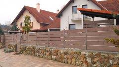 BO vízszintesen alkalmazott WPC kerítésrendszer