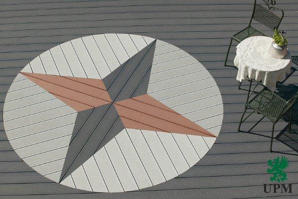 Egy víkendház teraszburkolatai