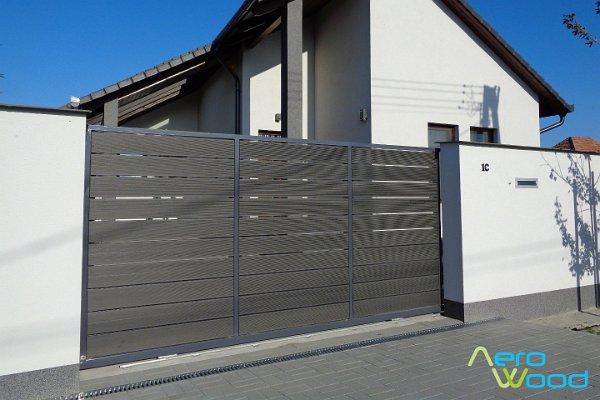 Grafitszürke AW WPC burkolat, mint kerítés