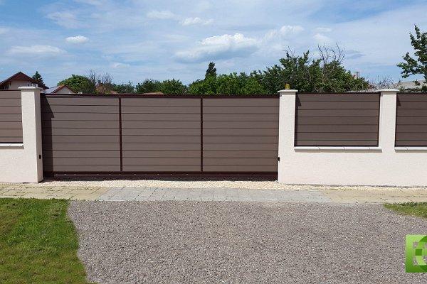 WPC kerítés umbra színben